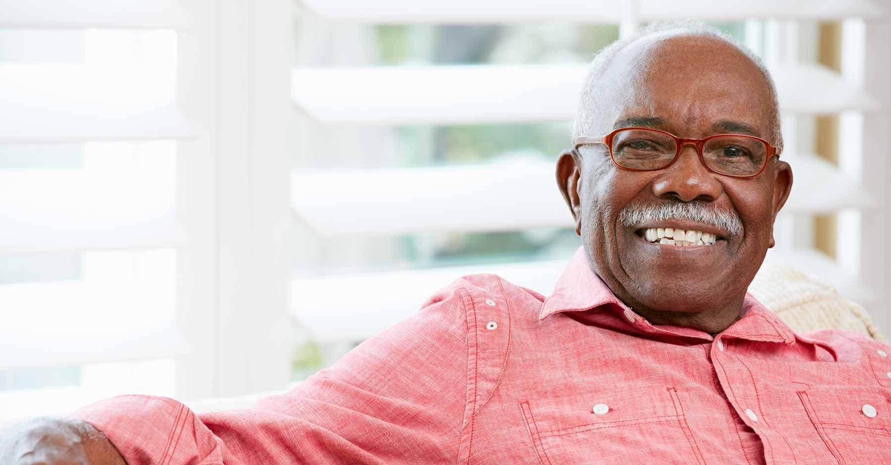 Senior citizen relaxing
