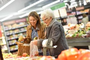 Senior citizen shopping