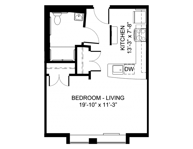 Barrier Free Efficiency Floor Plan